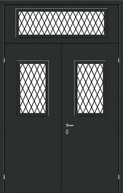 железная дверь тамбурная с решеткой